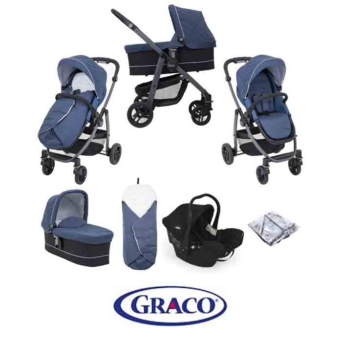 Graco Evo Avant Juva Travel System with Carrycot Ink