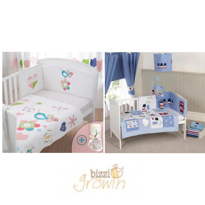 Bizzi Growin 4 Piece Cot Bed Bedding Set