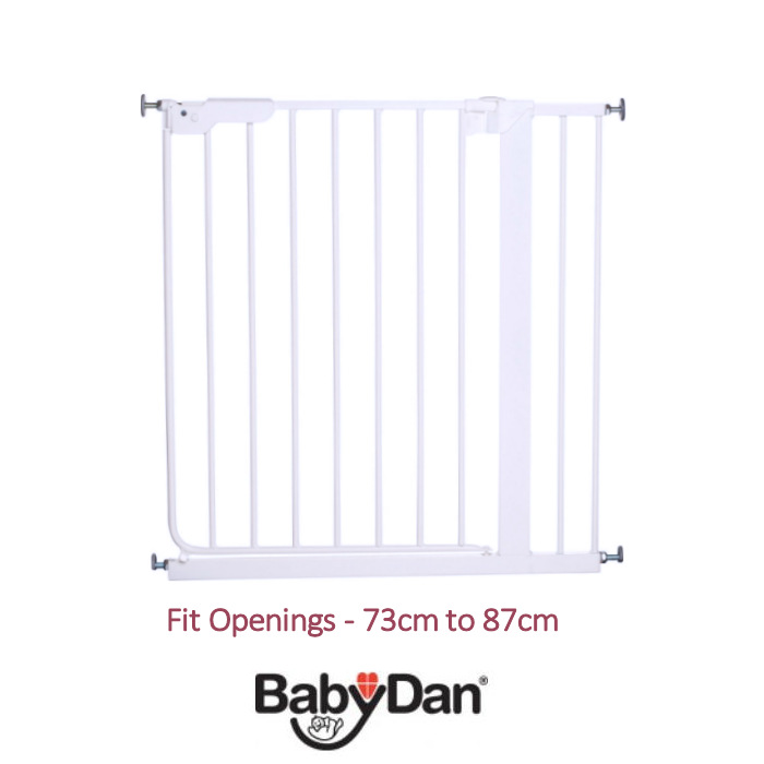 Babydan Luxury Danamic Pressure Indicator Stair Gate - White