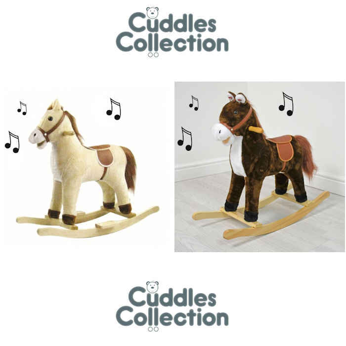 Cuddles Collection Small Mini Rocking Horse