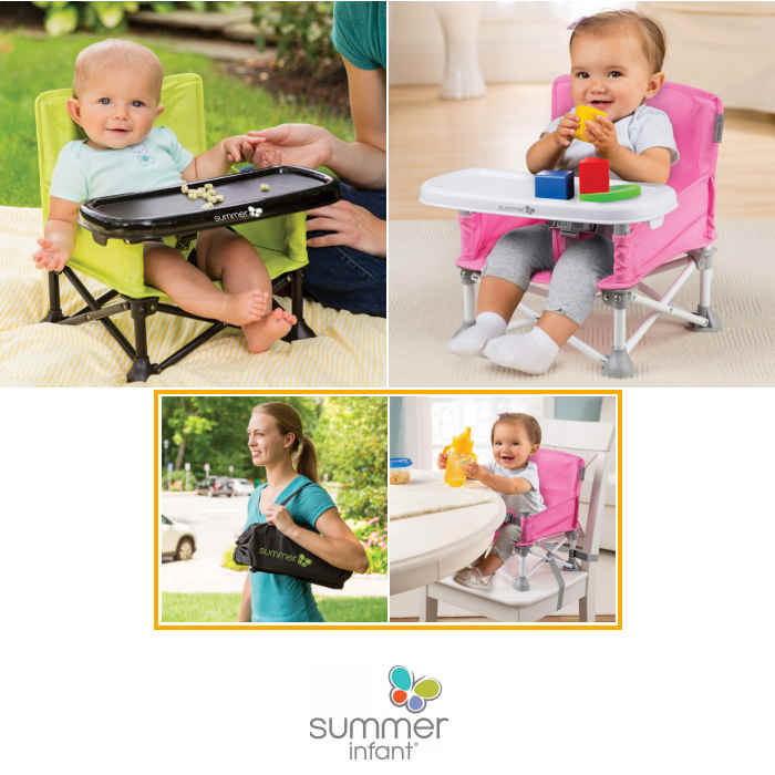 Summer Infant Pop n Sit 2 in 1 Portable Highchair Booster Seat