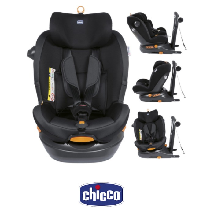 Chicco Around U Group 01 iSize 360 Spin ISOFIX Baby Car Seat Jet Black
