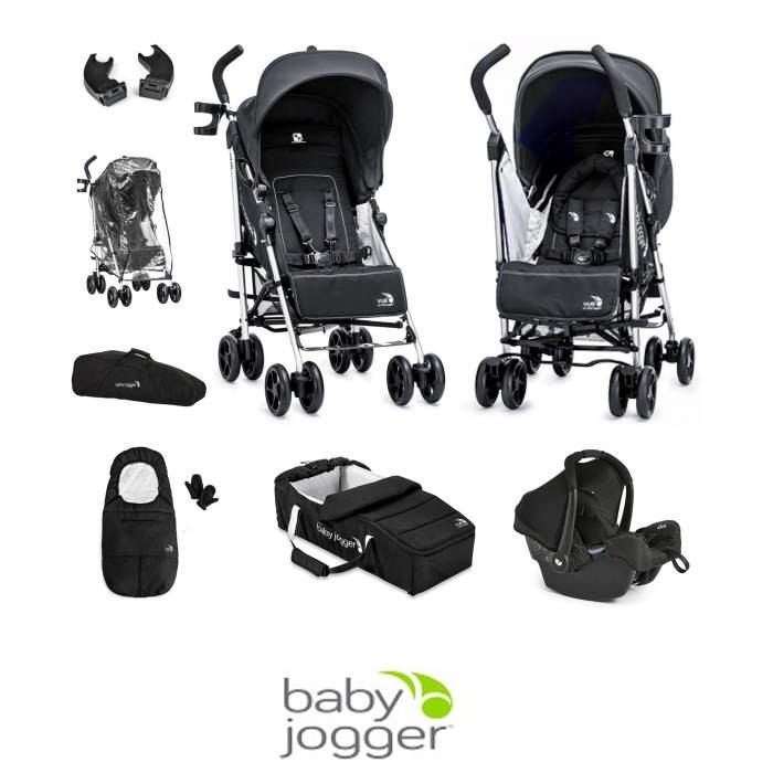 Baby Jogger Vue 7 Piece Gemm Travel System Bundle - Black
