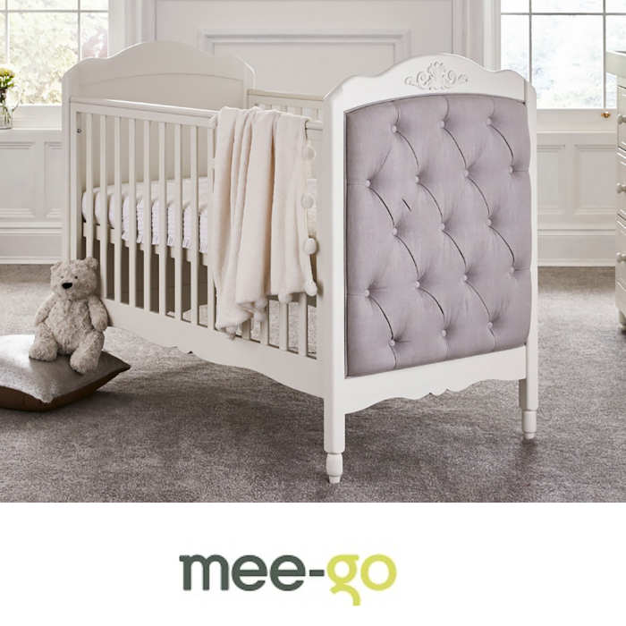 Mee-Go Epernay Cot Bed With Deluxe Foam Mattress - Ivory White
